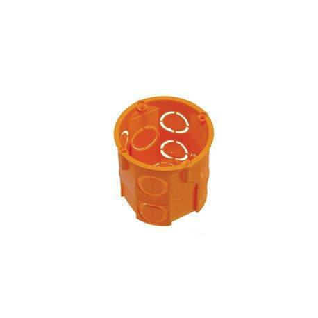 Puszka instalacyjna fi 60 głęboka, bez wkrętów, pomarańczowa
