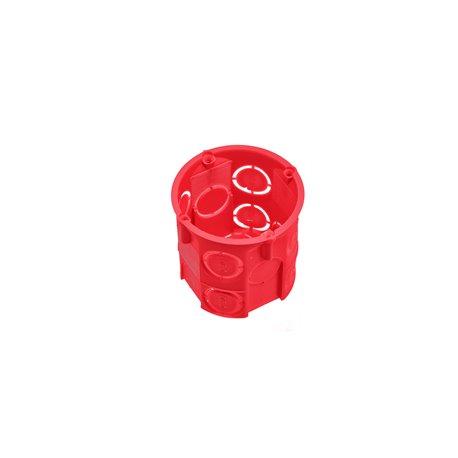 Puszka instalacyjna fi 60 głęboka,bez wkrętów,samogasnąca,bezhalogenowa, czerwona