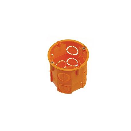 Puszka instalacyjna fi 60 głęboka, z wkrętami, pomarańczowa