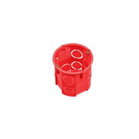 Puszka instalacyjna fi 60 głęboka,z wkrętami,samogasnąca,bezhalogenowa, czerwona