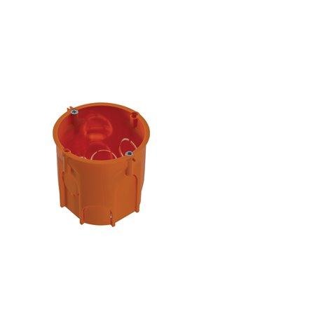 Puszka PK60 Lux głęboka z wkrętami pomarańczowa