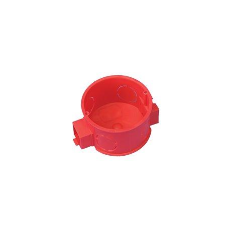 Puszka instalacyjna fi 60 łączeniowa, płytka, bez wkrętów, samogasnąca, bezhalogenowa, czerwona