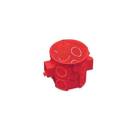 Puszka instalacyjna fi 60 łączeniowa, głęboka, bez wkrętów, samogasnąca, bezhalogenowa, czerwona