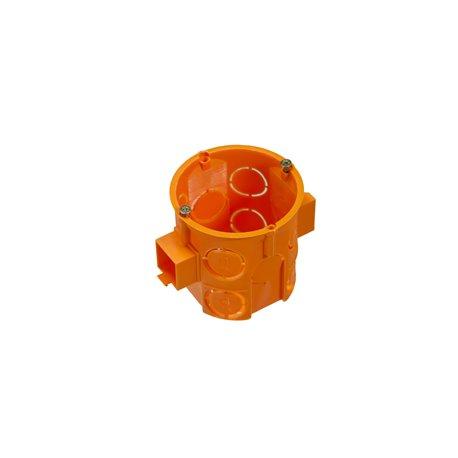 Puszka instalacyjna fi 60 łączeniowa, głęboka, z wkrętami, pomarańczowa