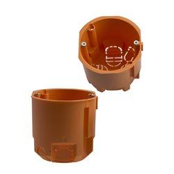 Puszka instalacyjna fi 68 łączeniowa, głęboka, z wkrętami, pomarańczowa