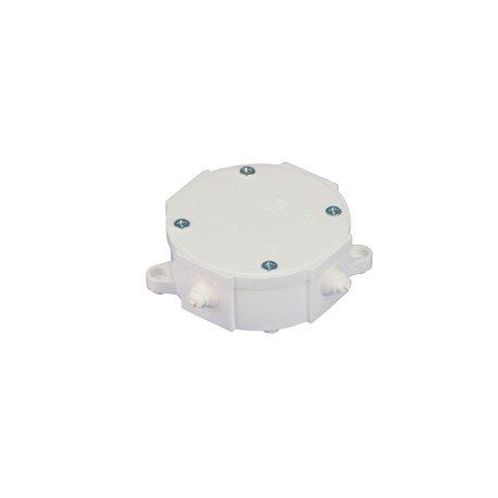 Puszka instalacyjna hermetyczna P-0, 4 dławiki, pusta, IP44, biała
