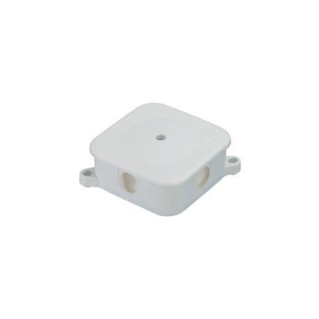 Puszka instalacyjna hermetyczna P-2, 4 dławiki, pusta, IP44, biała