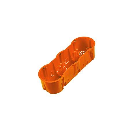 Puszka inst.potrójna z wkrętem głęboka pomarańczowa