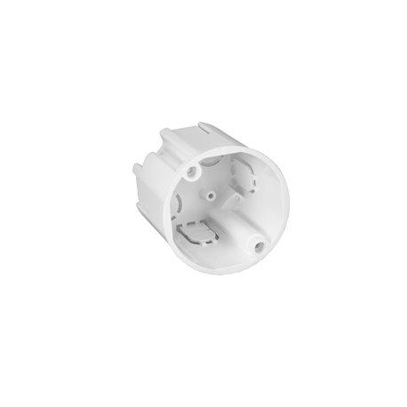 Puszka instalacyjna podtynkowa fi 50 płytka, bez wkrętów, biała