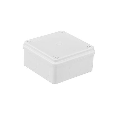 Puszka instalacyjna hermetyczna S-BOX 100x100x50, bez dławików, IP65, biała