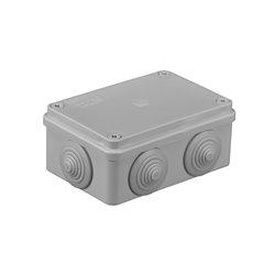 Puszka instalacyjna hermetyczna S-BOX 120x80x50, 6x PG-21, bezhalogenowa, IP65, szara