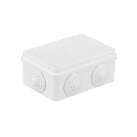 Puszka instalacyjna hermetyczna S-BOX 120x80x50, 6x PG-21,IP65, biała