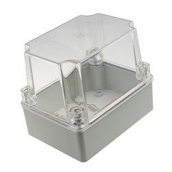Puszka instalacyjna hermetyczna S-BOX 150x110x70, bez dławików,wysoka,pokrywa przeźroczysta,IP56, szara