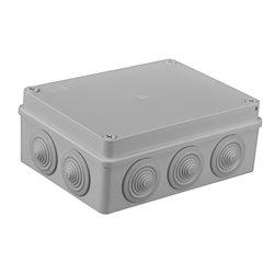 Puszka instalacyjna hermetyczna S-BOX 190x140x70, 10x PG-29, bezhalogenowa, IP65, szara