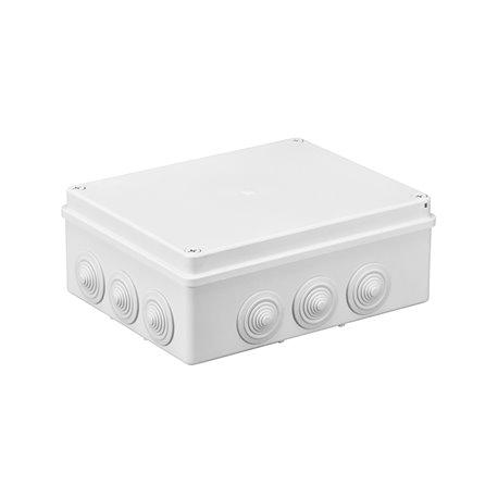 Puszka instalacyjna hermetyczna S-BOX 240x190x90, 12x PG-29, IP65, biała
