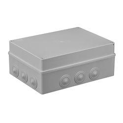 Puszka instalacyjna hermetyczna S-BOX 300x220x120, 12x PG-29, bezhalogenowa, IP65, szara