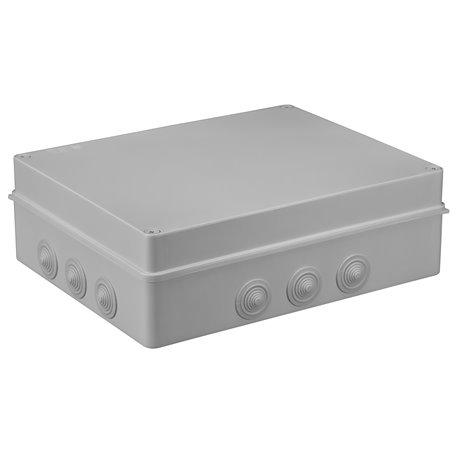 Puszka instalacyjna hermetyczna S-BOX 380x300x120, 12x PG-29, bezhalogenowa, IP65, szara