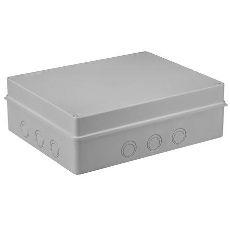 Puszka instalacyjna hermetyczna S-BOX 380x300x120, bez dławików, bezhalogenowa, IP65, szara