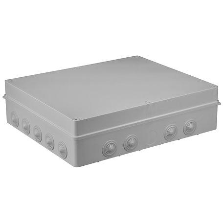Puszka instalacyjna hermetyczna S-BOX 460x380x120, 18x PG-29, bezhalogenowa, IP65, szara