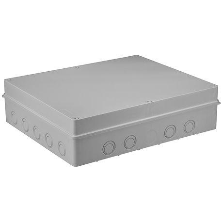 Puszka instalacyjna hermetyczna S-BOX 460x380x120, 18 osłabień, bezhalogenowa, IP65, szara