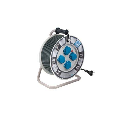 Przedłużacz na bębnie fi 340, H05RR F3x2,5-50m, 4xGZ16A (250V), IP44, wyłącznik termiczny