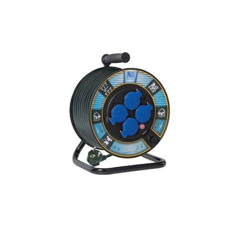 Przedłużacz na bębnie fi 250, H05RR F3x1,5-30m, 4xGZ16A (250V), wyłącznik termiczny  stan faktyczny 0