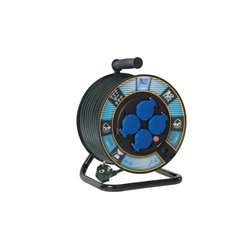 Przedłużacz na bębnie fi 250, H05VV F3x1,5-20m, 4xGZ16A (250V), wyłącznik termiczny