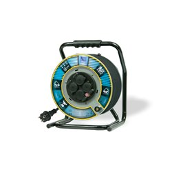 Przedłużacz na bębnie metalowym Home&Garden fi 305, H05VV F3x1,5-40m, 4xGZ16A (250V), IP44, wyłącznik termiczny