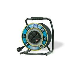Przedłużacz na bębnie metalowym Home&Garden, H05RR F3x2,5-50m, 4xGZ16A (250V), IP44, wyłącznik termiczny