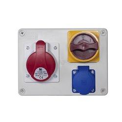 Rozdzielnica R-BOX 190, 1x16A/5p, 1x250V/16A, wyłącznik 0/1