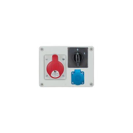 Rozdzielnica R-BOX 190, 1x16A/4p, 1x250V/16A, wyłącznik 0/1