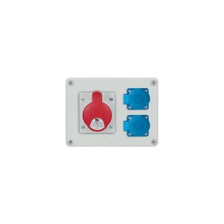 Rozdzielnica R-BOX 190, 1x16A/5p, 2x250V/16A