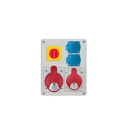 Rozdzielnica R-BOX 240, 1x32A/4p, 1x16A/4p, 2x250V/16A, wyłącznik L/P