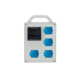Rozdzielnica R-BOX 240R-4S, 4x250V/16A,zab.różn.prąd. 2xB16/1, 1x2/25/0,03