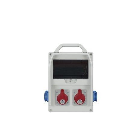 Rozdzielnica R-BOX 300R 9S, 2x16A/5p, 2x250V/16A zabezp.B20/3, 2xB16/1