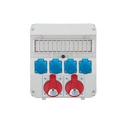 Rozdzielnica R-BOX Lux-320R 13S, 2x32A/5p, 4x250V/16A