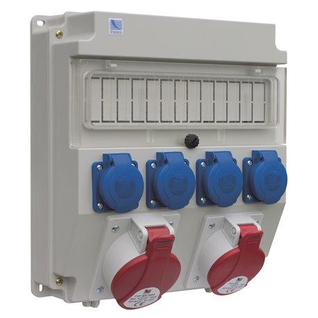 Rozdzielnica R-BOX Lux-320R 13S, 1x32A/5p, 1x16A/5p, 4x250V/16A