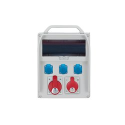 Rozdzielnica R-BOX 380R 13S, 1x32A/5p, 1x16A/5p, 3x250V/16A zabezp.różn.prąd B32/3,B16/3,3xB16/1,4/40/0,03