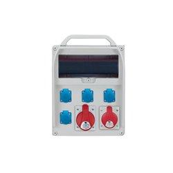 Rozdzielnica R-BOX 380R 13S, 1x32A/5p, 1x16A/5p, 4x250V/16A zabezp.różn.prąd B32/3, B16/3,3xB16/1, 4/40/0,03
