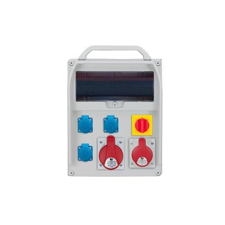 Rozdzielnica R-BOX 380R 13S, 1x32A/5p, 1x16A/5p, 3x250V/16A, wyłącznik L/P
