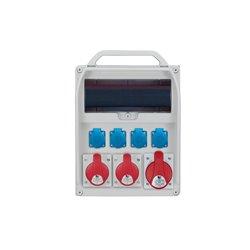 Rozdzielnica R-BOX 380R 13S, 1x32A/5p, 2x16A/5p, 4x250V/16Azab.różn prąd. B32/3,C16/3,3x16/1,4/40/0,03