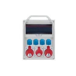 Rozdzielnica R-BOX 380R 13S, 2x32A/5p, 1x16A/5p, 4x250V/16A zabezp C32/3,C16/3,3xB16/1