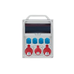 Rozdzielnica R-BOX 380R 13S, 2x32A/5p, 1x16A/5p, 4x250V/16A zabezp.różn.prąd C32/3,B16/3,3xB16/1,4/40/0,03