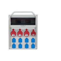 Rozdzielnica R-BOX 460R 17S, 3x32A/5p, 1x16A/5p, 8x250V/16A zabezp. różn.prąd 3xB32/3,B16/3,B16/1,4/40/0,03