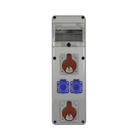 Rozdz.R-BOX SLIM 6S 2x16/4, 2x230V
