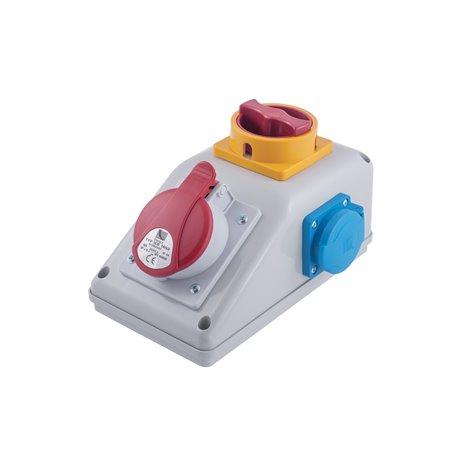 Rozdzielnica R-BOX KOMPAKT 16A/5p, 2x250V, wyłącznik L/P
