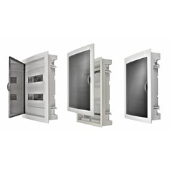rozdzielnica uniwersalna 24 modułów z plastikowymi drzwiami