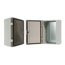 szafka rozdzielcza herm.260x350x150mm IP65, drzwi nieprzeźroczyste, odporna na UV