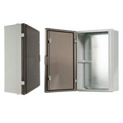 szafka rozdzielcza herm.400x600x200mm IP65, drzwi przeźroczyste