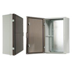 szafka rozdzielcza herm.400x600x200mm IP65, drzwi nieprzeźroczyste, odporna na UV